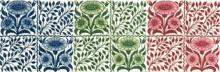 Aesthetic-style 'BedfordPark Daisy' tiles by William de Morgan Available from Charles Rupert Designs