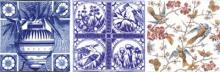Three Aesthetic tiles available in reproduction from Charles Rupert Designs