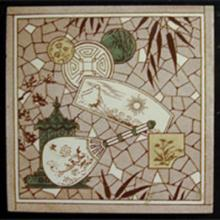 "An English Aesthetic 6"" tile of the 1880's. Private collection"