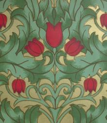 Fairfield Tulip wallpaper c1908.